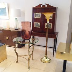 Paolo Buffa cabinet and Form vase.