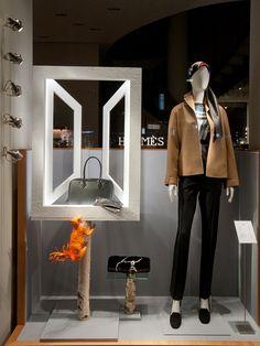 Retail Design Blog — Hermès Windows 2015 Winter, Vienna - Austria