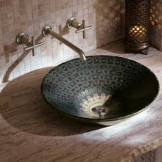 Modern interior decorating ideas that include architectural features, room furni. - Modern interior decorating ideas that include architectural features, room furniture and decor acce - Contemporary Bathroom Sinks, Bathroom Sink Design, Kohler Bathroom, Modern Sink, Bathroom Ideas, Moroccan Design, Moroccan Style, Moroccan Room, Modern Moroccan Decor