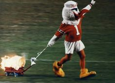 University of Miami's Sebastian the Ibis. He first appeared in 1957 for the Hurricanes.