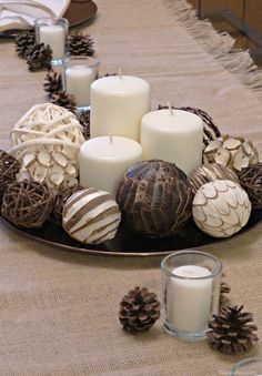 Diy centerpieces 147070744058590423 - Thanksgiving DIY centerpiece neutral modern theme as part of a Thanksgiving Entertaining Post featuring Nilla, PB & Mallow Squares dessert recipe Source by alainagb Everyday Centerpiece, Dining Room Table Centerpieces, Table Decor Living Room, Centerpiece Decorations, Thanksgiving Diy, Thanksgiving Decorations, Holiday Tablescape, Square Kitchen Tables, Decorating Coffee Tables