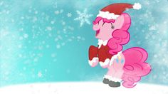 Pinkie Pie Christmas Wallpaper by *PhantomBadger on deviantART