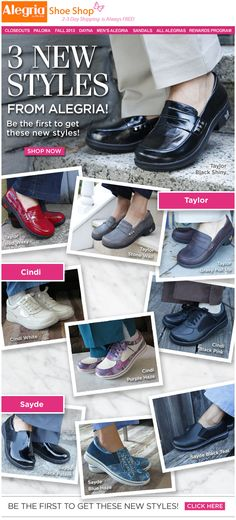 Three brand new styles from Alegria! | Alegria Shoe Shop