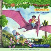 This audio collection includes the first eight stories from The Magic Tree House series by Mary Pope Osborne; Dinosaurs Before Dark, The Knight at Dawn, Mummies in the Morning, Pirates Past Noon, Night of the Ninjas, Afternoon on the Amazon, Sunset of the Sabertooth, and Midnight on the Moon. Join Jack and Annie in advenutres in time and space!