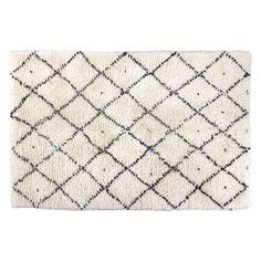 Designed in house, the Berber medium cream and charcoal grey hand-woven rug adds warmth to a room while creating a striking focal point. Buy now at Habitat UK. Large Rugs, Small Rugs, Trellis Pattern, Moroccan Design, Berber Rug, Diamond Pattern, Woven Rug, Colorful Rugs, Rug Size