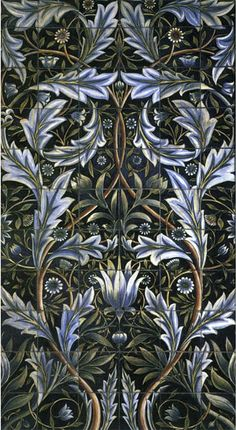 Membland Tile Panel designed by Morris and William De Morgan for Morris & Co