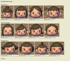 Animal crossing new leaf hair guide ((Pretty sure this is actually for City Folk!))