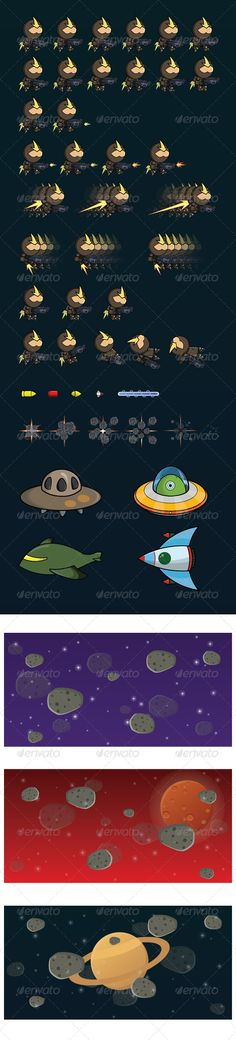 Game Galaxy Sprite - Green #graphicriver