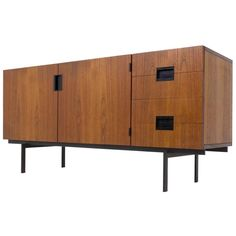 Extremely Rare DU-01 Japanese Series Sideboard by Cees Braakman for UMS Pastoe | From a unique collection of antique and modern sideboards at https://www.1stdibs.com/furniture/storage-case-pieces/sideboards/