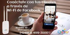 En CreCer Strategic Consulting and Digital Marketing trabajamos para ofrecerteuna herramienta de marketing a través de la cual unirás el mundo online y offline de tu negocio a través de WIFI Social.  No te quedes atrás y diferénciate de la competencia.. Si estás en Argentina y Uruguay … Comunicate YA… whatsappea al (+549) 11 4993-1197 o visitá nuestro blog: www.notienegoyete.ga  No esperes más. ¡Comienza a diseñar tu campaña de marketing social!