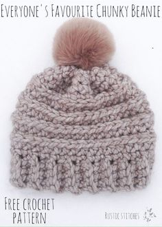 Everyone's Favourite Crochet Beanie - Free Pattern from Rustic Stitches