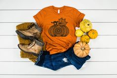T Shirt Picture, I Shop, My Etsy Shop, Black Pumpkin, Fall Pumpkins, My T Shirt, Homemade Gifts, Gifts For Friends, Your Style
