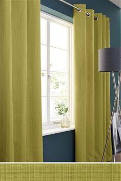 Green Eyelet Curtains   Next Home