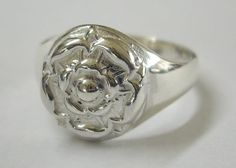 Hey, I found this really awesome Etsy listing at https://www.etsy.com/listing/192452241/handmade-sterling-silver-tudor-rose