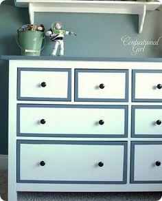 painted hemnes dresser (ikeahacker via centsational girl)