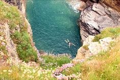 Mr Start quit his job at a London council to pursue his dream of writing a guide to Britain's best but least known beaches. Pictured, Port Gaverne in North Cornwall. Cornwall Beaches, Hidden Places, Hidden Beach, Turquoise Water, Tropical Paradise, Maldives, Countryside, Britain, Caribbean
