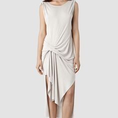 "All saints riviera VI dress Sleeveless dress in color ""stone"".  100% viscose, super chic and comfortable. Never worn with tags on  All Saints Dresses"