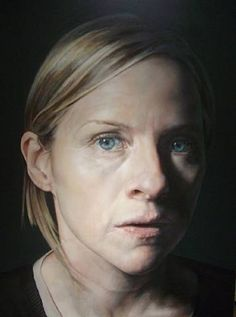 I am not familiar with her work, but this is excellent - even though she looks so sad. Angela Reilly (self portrait) Female Portrait, Portrait Art, Female Art, Portraits, Dark Portrait, Potrait Painting, Painting & Drawing, Selfies, Painting Studio