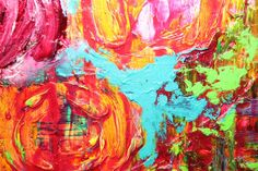 That orange flower could be poppy. POP by Mia Henry | oil painting | Ugallery Online Art Gallery