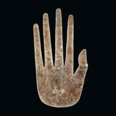Hopewell hand, cut from a thin sheet of natural mica by a craftsman who lived a thousand years ago in southern Ohio.  Field Museum of Natural History in Chicago