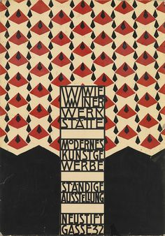 JOSEF HOFFMANN (1890-1956) WIENER WERKSTATTE / STÄNDIGE AUSSTELLUNG. Hand-stenciled design. 1905. 35 1/2x24 1/2 inches, 90 1/2x62 1/2 cm.