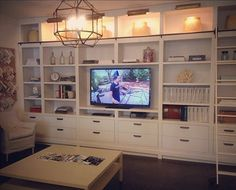 Built-ins with lighting