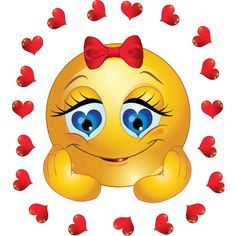 Loving Smiley-face Eyes Clipart - Clipart Suggest Emoticons Do Facebook, Funny Emoticons, Funny Emoji, Symbols Emoticons, Smiley Emoji, Emoticon Faces, Smiley Faces, Love Smiley, Funny Images