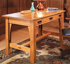 Craftsman Library Table Woodworking Plan