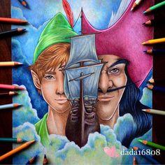Peter Pan and Captain Hook - Art by Dada (@dada16808) on Instagram
