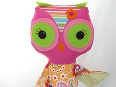 Custom Owl Doll Plush Owl Handmade Cloth Owl by cocomia on Etsy