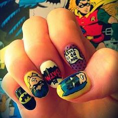 Suit Up For Comic Book Day With Cartoon-Inspired Nail Art