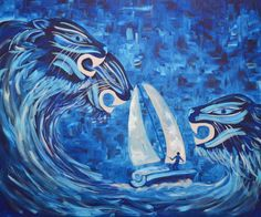 Buy Taming The Wild Sea, Acrylic painting by Zena Cameron on Artfinder. Discover thousands of other original paintings, prints, sculptures and photography from independent artists. How To Make Box, Abstract Styles, Acrylic Painting Canvas, Original Paintings, Sculptures, Waves, Sea, Figurative, Artwork