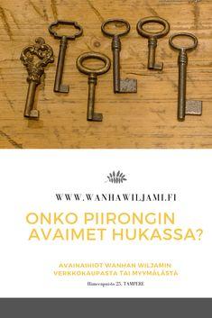 Laaja valikoima vanhan mallisia avaimia Wanhan Wiljamin verkkokaupassa ja myymälässä Hämeenpuistossa. Gate Valve