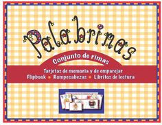 This kit includes a set of flash cards, puzzle cards, game cards, flipbook, children's book with blacklines, etc. for teaching rhyming in Spanish.