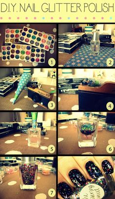 Make your own glitter nail polish. | 43 DIY Ways To Add Some Much-Needed Sparkle To Your Life