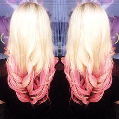 Blonde and pink hair! #hairideas