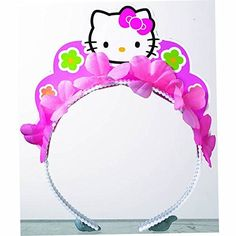 Amscan Adorable Hello Kitty Balloon Dreams Tiara Birthday Party Favors (1 Piece), 5 x 3, Pink ** Quickly view this special product, click the image - Baking tools