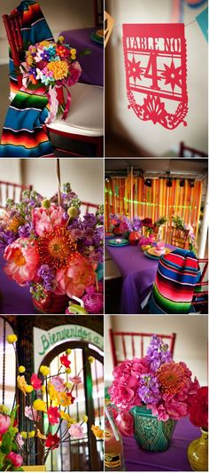 I love my Mexican Heritage, and I love the bright colors with which we paint our culture!!! Mexican Party, Mexican Style, Mexican Colors, Mexican Heritage, Mexican Cakes, Mexican Themed Weddings, Quinceanera, Bright Decor, Bright Colors
