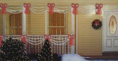 Set of Swag Style Christmas Lights with Red Shimmering Bow - White Wire by Sienna. $19.99. Swag Style Christmas Lights and BowItem #K04040113-piece set includes 2 swags and 1 red bowFeatures:Color: clear bulbs on swags and red bulbs on bow / white wireBow randomly twinkles to create a shimmering effect (every 5th bulb twinkles)Each swag consists of (3) tiered light strings (swags are steady burning)Number of bulbs on swags: 105Number of bulbs on bow: 50Bulb size: mini-bulbS...