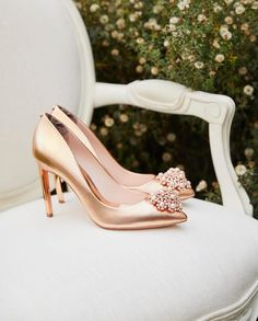 Ted Baker London Shoes, Pumps and Sandals for Women Bridal Shoes, Wedding Shoes, Dream Wedding, Ted Baker Heels, Baker Shoes, Gold Outfit, Cinderella Shoes, London Shoes, Gold Shoes