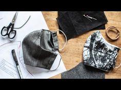 Rouška s kapsou na filtr a drátkem okolo nosu - YouTube Singer, Sewing, Knitting, Youtube, Crochet, Diy, Messages, Smoothie, Face