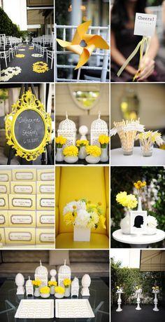 Detalles para tu Boda de color amarillo. Yellow wedding inspiration www.plenamare.com