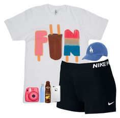 """contest entry"" by nc-preppy-living ❤ liked on Polyvore featuring NIKE, Fujifilm, S'well, Hawaiian Tropic and LifeProof"