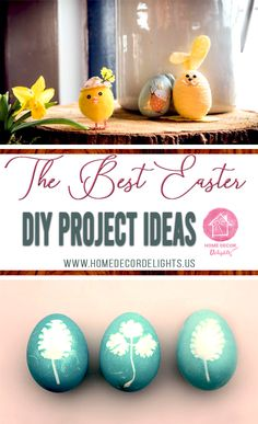 The best easter diy project ideas. #DIY #project #easter Handmade Home Decor, Diy Home Decor, Diy Crafts On A Budget, Diy Easter Decorations, Easter Activities, Jar Gifts, Egg Decorating, Easter Party, Easter Crafts