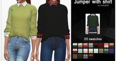 - New mesh - Top - All LOD's - Normal map - 20 Swatches - Don't reupload or claim as your own Fell free to recolor, but ...