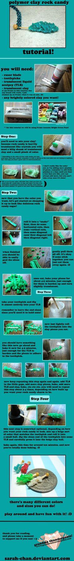 Polymer Clay ROCK CANDY TUTORIAL by *GrandmaThunderpants on deviantART