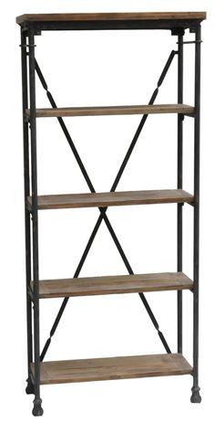 Crestview Industria Bookcase CVFZR308