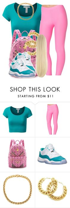 """""""Cotton candy """" by trillest-queen ❤ liked on Polyvore featuring J.TOMSON, MCM, Retrò, women's clothing, women, female, woman, misses and juniors"""