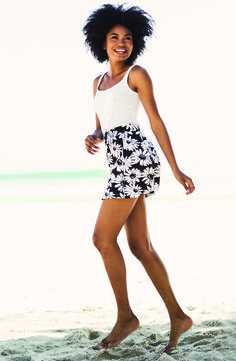 Stretch tank R39.99/Printed skater skirt R69.99. #Clothing Short Shirts, Short Outfits, Skater Skirt, Mini Skirts, Shorts, Printed, Clothing, Fashion, Outfits