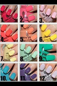 LOVE china glaze nail polishes
